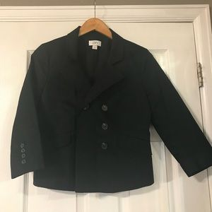 LOFT 3/4 Sleeve Black Pea Coat